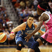 Janel McCarville, Minnesota Lynx, in action during the Connecticut Sun Vs Minnesota Lynx, WNBA regular season game at Mohegan Sun Arena, Uncasville, Connecticut, USA. 27th July 2014. Photo Tim Clayton