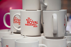 "LOCATION, UK  29/04/2011. The Royal Wedding of HRH Prince William to Kate Middleton. Republican mugs reading ""I'm not a royal wedding mug"" at the 'Not the Royal Wedding Party' held by the Republic Campaign in central Lodon . Photo credit should read Matt Cetti-Roberts/LNP. Please see special instructions. © under license to London News Pictures"