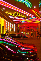 Limousines outside the New York New York Las Vegas Hotel, Las Vegas, Nevada USA