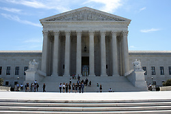 June 26, 2017 - Washington, DC, U.S - People seen exiting and outside the Supreme Court Building as the court's term ends with their last day of opinions. (Credit Image: © Evan Golub via ZUMA Wire)