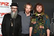 Coveronthulling muziek magazine  SOUNDZ, nu het grootste muziek magazine van Nederland<br /> <br /> Op de foto: Di-rect met Marcel Veenendaal  , Bas van Wageningen  en Paul Jan Bakker
