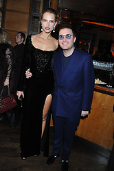 DAVID WERTHEIMER and MASHA RUDENKO at a dinner hosted by de Grisogono at 17 Berkeley Street, London on 12th November 2012.