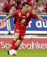 Fotball, Tippeligaen, 07 August 2005, Brann - Aalesund, resultat 0-0, Paul Scharner, Brann. Foto: Kjetil Espetvedt, Digitalsport.