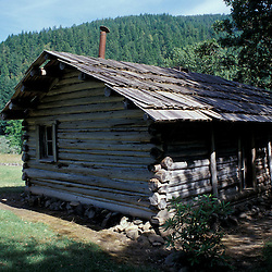 BLM Medford District, OR..Zane Grey's Cabin. Western Author.Rogue River.  Siskiyou Mountains. June.