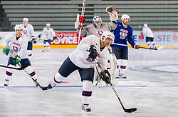 Mitja Robar during practice session of Slovenian National Ice Hockey team first time in Arena Stozice before 2012 IIHF World Championship DIV I Group A in Slovenia, on April 13, 2012, in Arena Stozice, Ljubljana, Slovenia. (Photo by Vid Ponikvar / Sportida.com)