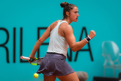 May 7, 2019 - Madrid, MADRID, SPAIN - Sara Sorribes Tormo of Spain in action during her second-round match at the 2019 Mutua Madrid Open WTA Premier Mandatory tennis tournament (Credit Image: © AFP7 via ZUMA Wire)