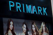 Sign for clothes shop Primark.