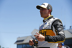 June 23, 2018 - Elkhart Lake, Wisconsin, United States of America - GRAHAM RAHAL (15) of the United States hangs out on pit road prior to taking to the track to practice for the KOHLER Grand Prix at Road America in Elkhart Lake, Wisconsin. (Credit Image: © Justin R. Noe Asp Inc/ASP via ZUMA Wire)