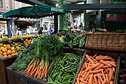 Vegetables for sale at Borough Market in London, England, United Kingdom. Borough Market is a retail food market and farmers market in Southwark. It is one of the largest and oldest food markets in London, with a market on the site dating back to at least the 12th century. A farmers market is a physical retail marketplace intended to sell foods directly by farmers to consumers. Farmers markets may be indoors or outdoors and typically consist of booths, tables or stands where farmers sell fruits, vegetables, meats, cheeses, and sometimes prepared foods and beverages.