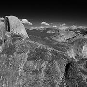 Half Dome And Little Yosemite Valley - Glacier Point View - Yosemite - Black & White