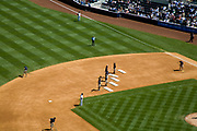 "Ground Crew performing to the song ""YMCA"" during 7th Inning stretch, Yankee Stadium (New), The Bronx, New York City, USA"