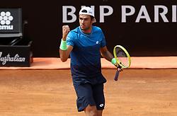 May 14, 2019 - Rome, Italy - Matteo Berrettini (ITA) celebrates during the ATP Internazionali d'Italia BNL first round match at Foro Italico in Rome, Italy on May 14, 2019. (Credit Image: © Matteo Ciambelli/NurPhoto via ZUMA Press)