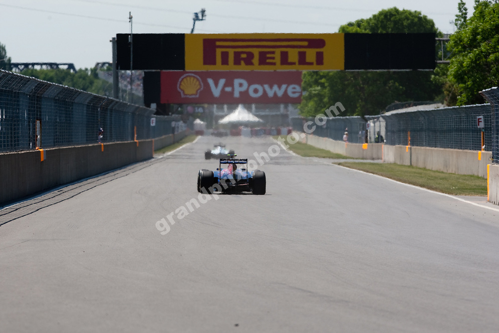 Jaime Alguersuari (Toro-Rosso-Ferrari) in practice before the 2011 Canadian Grand Prix in Montreal. Photo Grand Prix Photo
