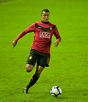 WIDNES, ENGLAND - Tuesday, October 6, 2009: Manchester United's Joshua King in action against Everton during the FA Premiership Reserves League (Northern Division) match at the Halton Stadium. (Pic by David Rawcliffe/Propaganda)
