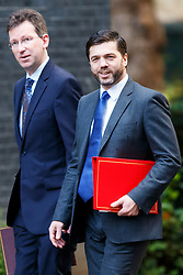 © Licensed to London News Pictures. 21/10/2014. LONDON, UK. Welsh Secretary Stephen Crabb (right) attending to a cabinet meeting in Downing Street on Tuesday, 21 October 2014. Photo credit: Tolga Akmen/LNP