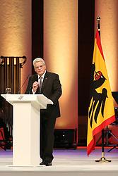 03.10.2015, Frankfurt am Main, GER, Tag der Deutschen Einheit, im Bild Bundespraesident, Bundespräsident Joachim Gauck bei seiner Rede beim Festakt in der Alten Oper Frankfurt // during the celebrations of the 25 th anniversary of German Unity Day in Frankfurt am Main, Germany on 2015/10/03. EXPA Pictures © 2015, PhotoCredit: EXPA/ Eibner-Pressefoto/ Roskaritz<br /> <br /> *****ATTENTION - OUT of GER*****