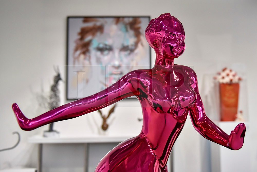 """© Licensed to London News Pictures. 27/06/2017. London, UK.  """"Attitude"""" by Francoise Abraham (GBP22.75k) at The Arts & Antiques Fair taking place at Olympia in Kensington.  The event is the UK's largest and most established art and antiques fair and runs until 2 July.  Photo credit : Stephen Chung/LNP"""