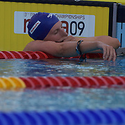 Rebbeca Adlington, Great Britain, after finishing fourth in the Women's 800m final at the World Swimming Championships in Rome on Saturday, August 01, 2009. Photo Tim Clayton.