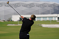 Marcel Siem (GER) on the driving range during the Preview of the Commercial Bank Qatar Masters 2020 at the Education City Golf Club, Doha, Qatar . 03/03/2020<br /> Picture: Golffile | Thos Caffrey<br /> <br /> <br /> All photo usage must carry mandatory copyright credit (© Golffile | Thos Caffrey)