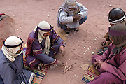 The Nabatean tombs of Petra, Jordan, were taken over by the Romans as they lay on the old frankincense trade routes. Acting out the Nabatean lifestyle