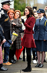 Catherine, Duchess of Cambridge visits MIDST, a child and adolescent mental health project in Torfaen, Wales on February 22, 2017