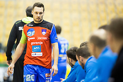 Luka Zvizej of Slovenia during friendly handball match between National Teams of Slovenia and F.Y.R. of Macedonia before EHF EURO 2016 in Poland on January 5, 2016 in Arena Zlatorog, Celje, Slovenia. Photo by Urban Urbanc / Sportida