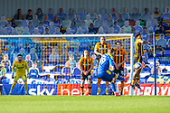 AFC Wimbledon forward Joe Pigott (39) free-kick during the EFL Sky Bet League 1 match between AFC Wimbledon and Hull City at Plough Lane, London, United Kingdom on 27 February 2021.