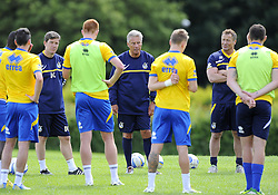 Bristol Rovers Manager, John Ward addresses the squad  - Photo mandatory by-line: Joe Meredith/JMP - Tel: Mobile: 07966 386802 24/06/2013 - SPORT - FOOTBALL - Bristol -  Bristol Rovers - Pre Season Training - Npower League Two