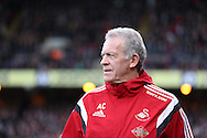 Alan Curtis, the interim manager of Swansea City looks on from his technical area. Barclays Premier League match, Crystal Palace v Swansea city at Selhurst Park in London on Monday 28th December 2015.<br /> pic by John Patrick Fletcher, Andrew Orchard sports photography.