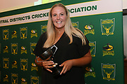 Jess Watkin, Central Districts Cricket Awards Dinner, The Old Church, Napier, Friday, March 22, 2019. Copyright photo: Kerry Marshall / www.photosport.nz
