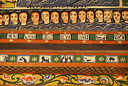 Ethiopia Lake Tana Zege Peninsula, Murals, in the Christian Church of Ura Kedane Meheriet,