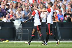 Ridgeciano Haps of Feyenoord, Steven Berghuis of Feyenoord during the Dutch Eredivisie match between Feyenoord Rotterdam and Willem II Tilburg at the Kuip on August 27, 2017 in Rotterdam, The Netherlands