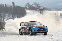 MOTORSPORT - WORLD RALLY CHAMPIONSHIP 2012 - RALLY SWEDEN / RALLYE DE SUEDE - 08 TO 12/02/2012 - KARLSTAD (SWE) - PHOTO : FRANCOIS BAUDIN /  DPPI - EVYIN BRINDILSEN FORD FIESTA WRC ACTION