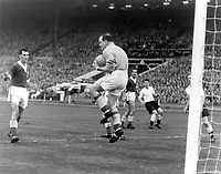 Fotball<br /> England <br /> Foto: Colorsport/Digitalsport<br /> NORWAY ONLY<br /> <br /> Alfred Sherwood - Wales/Newport County. Takes the place of injured goalkeeper, Jack Kelsey (Arsenal), who later returned to play as an out field player, briefly. England v Wales, Home Championship at Wembley, 14/11/56