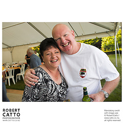 Amanda McLaren;Michael Clark at the Launch of the Bruce McLaren Movie project at the A1 Grand Prix of New Zealand, Taupo, New Zealand.