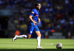 """Chelsea's Pedro during the Community Shield match at Wembley Stadium, London. PRESS ASSOCIATION Photo. Picture date: Sunday August 5, 2018. See PA story SOCCER Community Shield. Photo credit should read: Adam Davy/PA Wire. RESTRICTIONS: EDITORIAL USE ONLY No use with unauthorised audio, video, data, fixture lists, club/league logos or """"live"""" services. Online in-match use limited to 75 images, no video emulation. No use in betting, games or single club/league/player publications."""