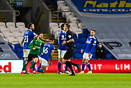 CELE Birmingham City's Ivan Sanchez (17) celebrates scoring his side's second goal during the EFL Sky Bet Championship match between Cardiff City and Birmingham City at the Cardiff City Stadium, Cardiff, Wales on 16 December 2020.