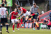 {persons}, C20	Charlton Athletic midfielder Chris Solly (20), M3	Millwall defender Joe Martin (3), M8	Millwall midfielder Ben Thompson (8)  during the EFL Sky Bet League 1 match between Charlton Athletic and Millwall at The Valley, London, England on 14 January 2017. Photo by Sebastian Frej.