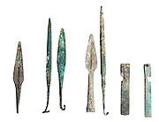 Canaanite bronze Spears and spearheads, Bronze Age 15th century BCE