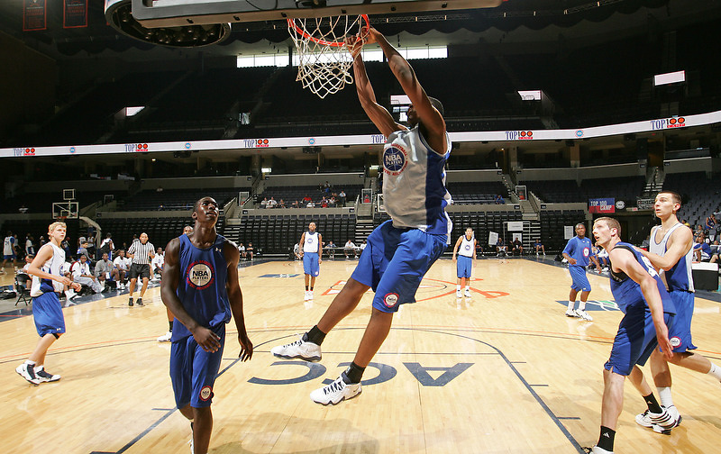 Tristan Thompson handles the ball during the 2009 NBPA Top 100 Basketball Camp held Friday June 17- 20, 2009 in Charlottesville, VA. Photo/ Andrew Shurtleff.