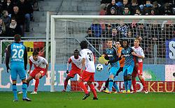 22-01-2012 VOETBAL: FC UTRECHT - PSV: UTRECHT<br /> Utrecht speelt gelijk tegen PSV 1-1 / (L-R) Jan Wuytens, Nana Asare, Stefano Lilipaly, Tim Matavz, Georginio Wijnaldum, Johan Martensson<br /> ©2012-FotoHoogendoorn.nl