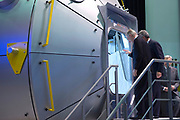 Staatsbezoek aan Nederland van Zijne Majesteit Koning Filip der Belgen vergezeld door Hare Majesteit Koningin <br /> Mathilde aan Nederland.<br /> <br /> State Visit to the Netherlands of His Majesty King of the Belgians Filip accompanied by Her Majesty Queen<br /> Mathilde Netherlands<br /> <br /> op de foto / On the photo: De Belgische Koning Filip brengt een bezoek aan ESA's (European Space Agency) technische hart en testcentrum ESTEC (European Space Research and Technology Centre) tijdens tijdens een drie daags staatsbezoek en ontmoet o.a. Adre Kuipers  /// The Belgian King Philip will visit ESA's (European Space Agency) technical center and test center ESTEC (European Space Research and Technology Centre) during during a three-day state visit and met among others Adre Kuipers