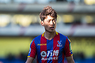 Crystal Palace #14 Lee Chung-yong during the Premier League match between Crystal Palace and Tottenham Hotspur at Selhurst Park, London, England on 25 February 2018. Picture by Sebastian Frej.