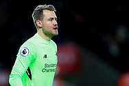 Liverpool Goalkeeper Simon Mignolet looks on. Premier league match, Stoke City v Liverpool at the Bet365 Stadium in Stoke on Trent, Staffs on Wednesday 29th November 2017.<br /> pic by Chris Stading, Andrew Orchard sports photography.