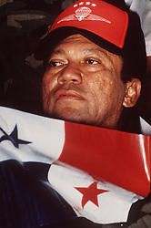 Panamanian dictator Manuel Antonio Noriega in 1989. One-time Panamanian dictator Manuel Noriega is being remembered as a ruthless strongman of volatile CIA operative and a brash drug trafficker. Noriega was removed from office in the 1989 U.S. invasion of Panama. He died last night at 83. Photo by David Walters/The Miami Herald/TNS/ABACAPRESS.COM