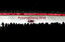 Olympic Athletes from Russia's Ekaterina Baturina in the Women's Luge Singles Run during day three of the PyeongChang 2018 Winter Olympic Games in South Korea. PRESS ASSOCIATION Photo. Picture date: Monday February 12, 2018. See PA story OLYMPICS Luge. Photo credit should read: David Davies/PA Wire. RESTRICTIONS: Editorial use only. No commercial use.