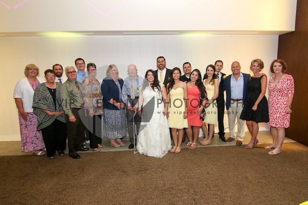 CHINO, CA - JUN 20:  Wedding in Honor of Michelle Mejia and Thomas Robinson held at Chaffey College Chino Community Center on June 20, 2015 in Chino, California  (Photo by Jc Olivera)