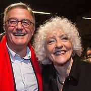 NLD/Amsterdam/20140307 - Boekenbal 2014, Nelleke Noodervliet en partner .....