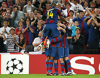Fotball <br /> 19.09.07<br /> UEFA Champions League <br /> FC Barcelona - Olympique Lyon<br /> Foto: Witters/Digitalsport<br /> NORWAY ONLY<br /> <br /> Jubel 1:0 Barcelona , Thierry Henry (oben)