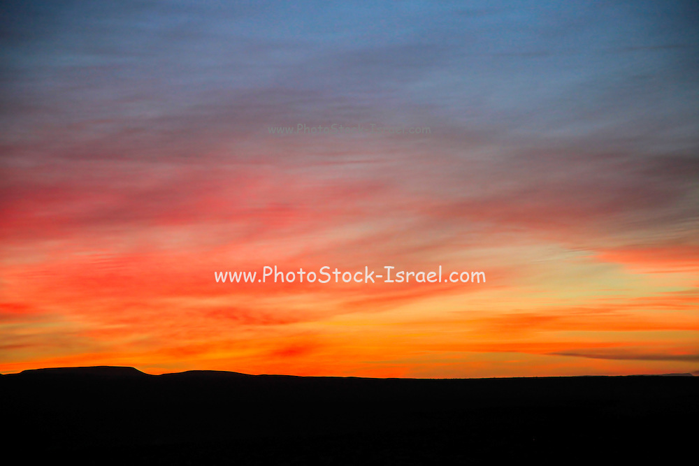 Desert sunset Photographed in Israel, Negev